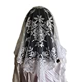 White Spanish Mantilla Catholic church chapel scarf lace Mass Large