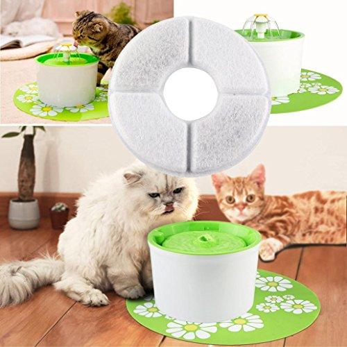 Gaddrt Fontaine d'eau de Fleur d'animal familier Automatique Filtre de Remplacement de Circulation électrique