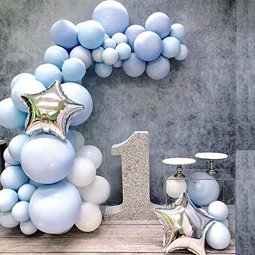 Sunshine smile Luftballons Pastell Blau,100pcs 10'' Bunte Latex Ballons,Helium Luftballons,Farbige Ballons,Partyballon,Dekorative Ballons für Hochzeit Weihnachten Geburtstag
