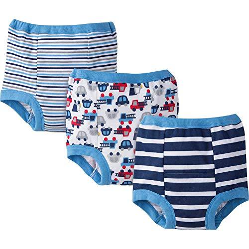 Gerber Baby Toddler Boy Training Pants,Blues, 3-Pack, 2T