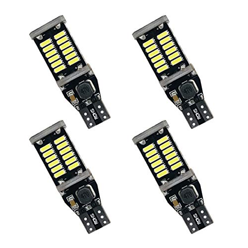 Kitchasy 921 LED Back Up Bulbs Super Bright 921 Reverse Back-Up LED Bulb Lights 4014 30-SMD High Powder CANBUS Error Free T15 906 W16W 921 LED, 6000K Xenon White