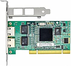 Jeirdus with Intel Chipset 82546 Dual Port Gigabit 8492MT PCI Server Network Card 1000M RJ45 NIC Ethernet Desktop Adapter