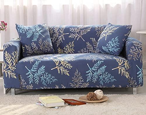 Funda Sofas 2 y 3 Plazas Florecen Las Ramas Azules Fundas para Sofa con Diseño Elegante Universal,Cubre Sofa Ajustables,Fundas Sofa Elasticas,Funda de Sofa Chaise Longue,Protector Cubierta para Sofá