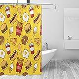 Zoom IMG-1 qingdaodeyangguo bath curtain suit bathroom