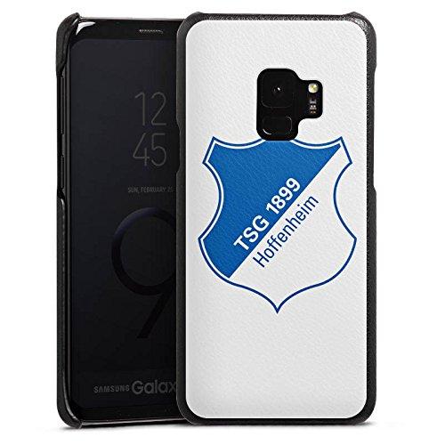 DeinDesign Cover kompatibel mit Samsung Galaxy S9 Lederhülle schwarz Leder Hülle Leder Handyhülle TSG Hoffenheim Fanartikel Football
