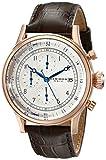 Akribos XXIV Men's Chronograph Watch - 3 Subdials with Date Window On Crocodile Pattern Leather Strap - AK798