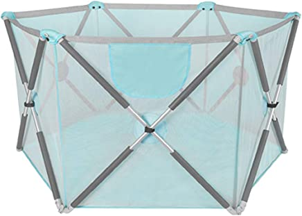 WJSW Kids Activity Centre Baby Playpens 72cm Safety Height Household Toddler Fence Infants Crawling Mat for Indoor and Outdoor Portable  Foldable  100 Balls Included  Safety