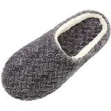 SAGUARO Zapatillas de Estar por Casa, Viaje, Confort, Unisex, Interior Otoño Invierno Caliente Slippers Suave Algodón Zapatilla Pareja Zapatos, Gris 39/40 EU