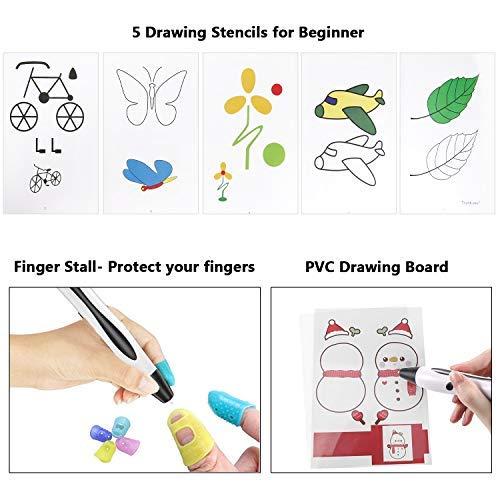 3D Stifte, für Kinder Erwachsene Anfänger mit PLA Filament 12 Farben -【Neueste Version 2019】Lovebay 3D Stifte Set mit PLA Farben 120 Fuß, 3d pen Starter Set als kreatives Geschenk, Bastler zu 3D kritzeleien, malen, basteln und drücken - 4