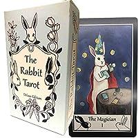 タロットカード 78枚 ウェイト版 タロット占い 【ラビット タロット デラックスエディション The Rabbit Tarot Deluxe Edition 】日本語解説書付き [正規品]