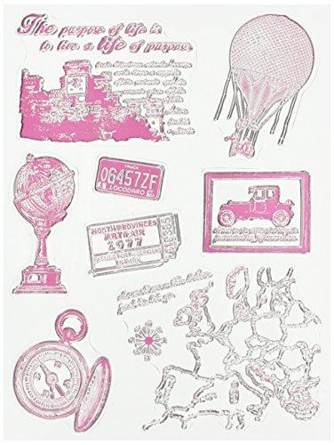 RAYHER HOBBY 58175000 - Sellos (2-8,5 cm), diseño Vintage de Viajes