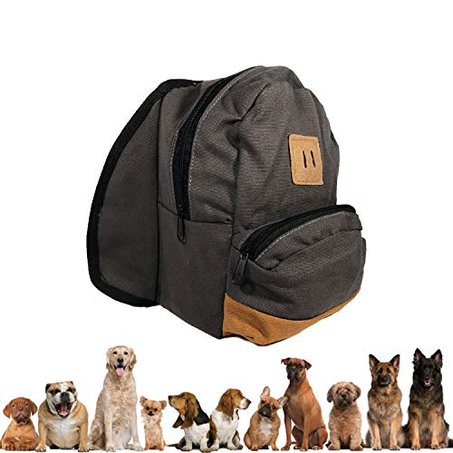 Dog Backpack Harness - For Hiking, Training, Daily Walking or Puppy Fashion - Adjustable Straps, Large Carrying Compartments & Durable Tactical Buckles - Fashionable Practical Pet Backpack