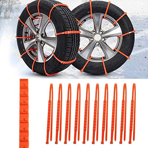 soyond Snow Chains Car Anti Slip Snow Tire Chains Adjustable Anti-Skid Chains Car Tire Snow Chains for Car/SUV/Trucks