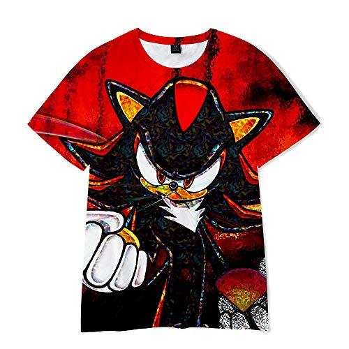 SSRSHDZW The Hedgehog - Camiseta de manga corta con estampado de Firefox en 3D para cosplay