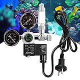 TTLIFE Regulador de CO2 para acuarios, Pantalla de medidor Doble, válvula de retención de Interfaz W21.8, válvula solenoide para acuarios, Plantas acuáticas para Ajustar el Nivel de CO2