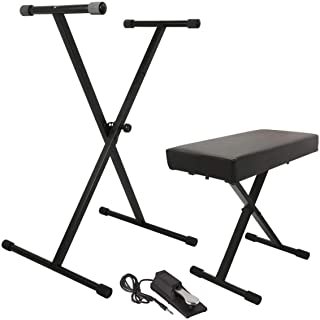 On Stage Stands Keyboard Stand/Bench Pak with KSP100 Sustain Pedal