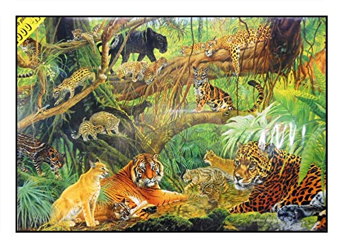 N / A James Hamilton 1000 T. Puzzle de 72 x 51 cm, selva tropical, gato, depredador, leopardo, tigre, Puma Jaguar, guepardo, Rainforest Cats 1025