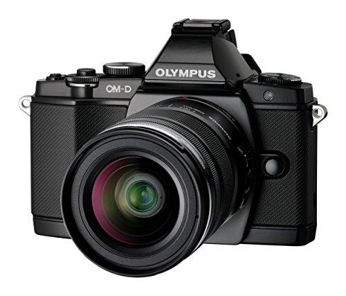Olympus E-M5 OM-D kompakte Systemkamera (16 Megapixel, 7,6 cm (3 Zoll) Display, bildstabilisiert) inkl. Objektiv M.Zuiko Digital ED 12-50 mm schwarz