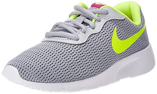 Nike Unisex Tanjun (GS) Leichtathletikschuhe, Mehrfarbig (Wolf Grey/Volt/Rush Pink 000), 36.5 EU