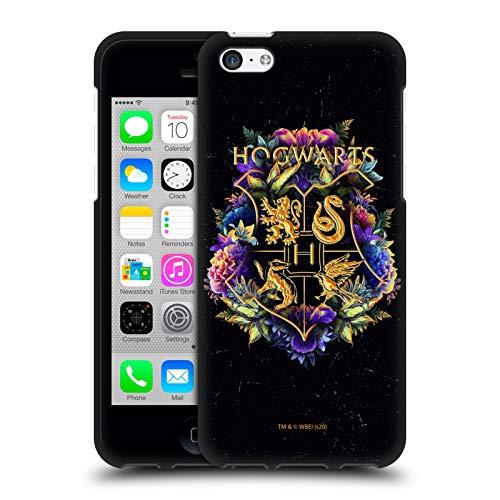 Head Case Designs Oficial Harry Potter Escudo Hogwarts 1 Reliquias de la Muerte XXXI Funda de Gel Negro Compatible con Apple iPhone 5c