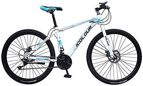 Mountain Bike for Men Land Rover 26 Inch with 24 Speed Bicycle Full Suspension MTB 100cm*85cm*35cm,White
