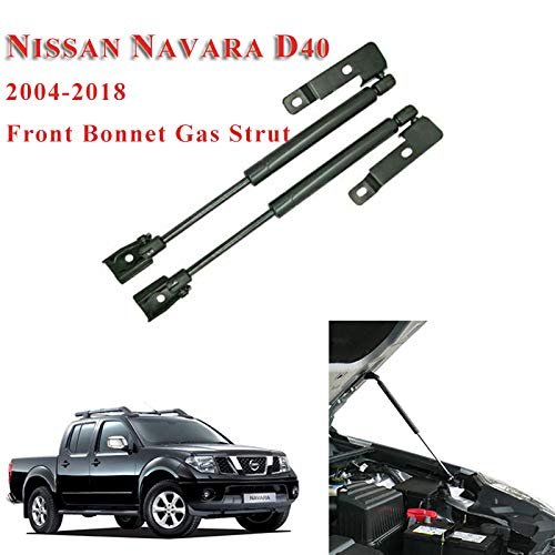 BYWWANG 2X Front Hood Bonnet ändern Gasdruckfedern Lift Support Stoßdämpfer, für Nissan Frontier Navara D40 2004-2018