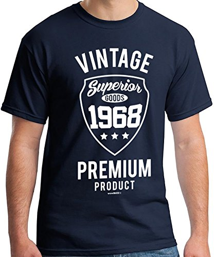 50th Birthday Gifts for Men - Vintage 1968 T Shirt - 50th Birthday Gift Ideas