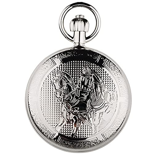 ZWMG Reloj de Bolsillo Metal AUTOMÁTICO MOTICO MERCANO MERCANO Reloj Hombres Y Mujeres Reloj DE Clamshell DE Clamshell DE TEMPERAMIENTO DE 1.9 INCLUY Regalo para Padre, Madre, Hijo, Collar, Reloj