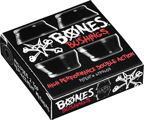 Bones Hardcore 4pc Hard Schwarz/Schwarz Lenkgummis