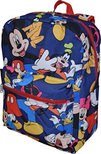 """Disney Junior per bambino, motivo: Mickey Mouse Friends & 40,64 cm (16"""")-Zaino per la scuola con tasca per PC portatile"""