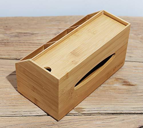 【天然素材】TAKEMI 竹製 収納ボックス付き ティッシュケース おしゃれな ティッシュボックス TM-STC1