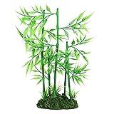 Planta de bambú para Acuario, pecera, Planta de bambú Artificial, Planta de Hoja Verde, Hierba de Agua, Adorno de plástico acuático, decoración de Paisaje(Verde)