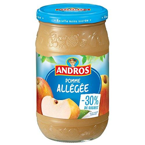 ANDROS Compote de Fruit Allégée Pomme, Bocal de 730 g