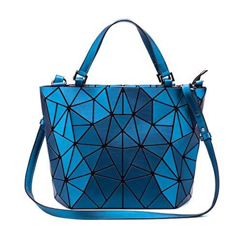 Suuran Handtaschen Damen, Geometrischer Holographic Tasche, Leuchtender Henkeltasche, Geometrisch Schultertasche, Geschenk für Frauen 03