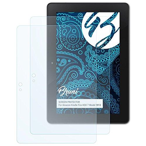 Bruni Schutzfolie kompatibel mit Amazn Kindl F¡re HDX 7 Model 2013 Folie, glasklare Displayschutzfolie (2X)