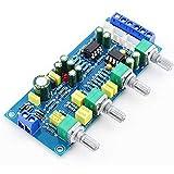HiLetgo NE5532 OP-AMP HiFi Preamplifier Pre Amplifier Bass Treble Balance Volume Tone Control Board