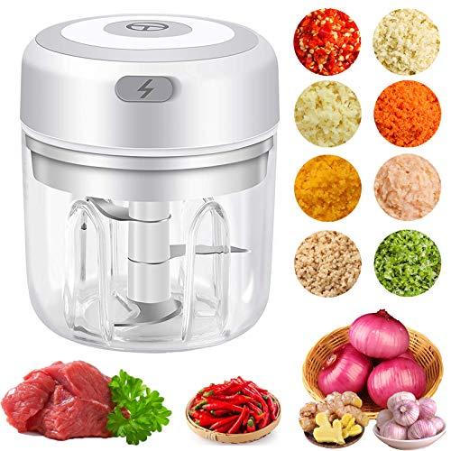 YJT-smyer - Mini picadora eléctrica para ajo, pequeño procesador de alimentos, utensilios de cocina, especias vegetales, cebolla,...