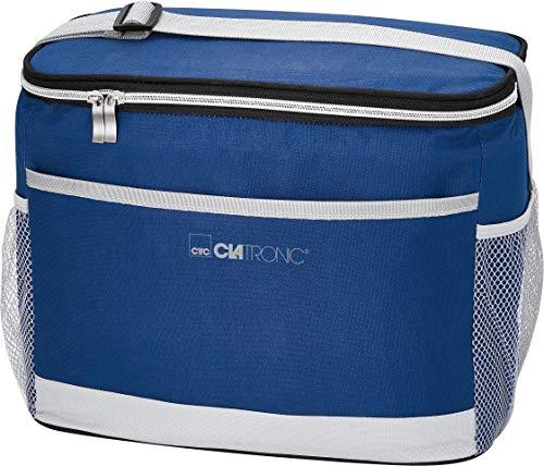 Clatronic KT 3720 Kühltasche//isolierte thermische Kühltasche// 12 Volt-Anschluss für Auto-/KfZ-Betrieb//kühlt bis zu max. 12°C unter Umgebungstemperatur//blau-grau