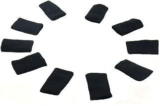 Kylin Express 10PCS Sports Elastic Finger Sleeve Protector Brace Support - Black