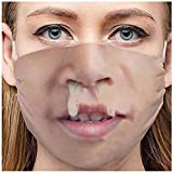 Adult Washable Funny Laughing Out Loud Printed Face Bandanas Meme Gag Gift - Breathable Anti-Dust Mouth Safety Guard Shield Windbreak Seamless Outdoor Riding Quick-drying (A)