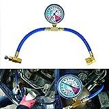 Maso - Kit de manguera de medición de recarga para refrigerante de coche R134A, adaptador de carga A/C con manómetro