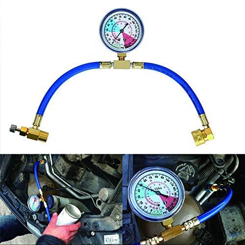MASO Klimaanlage Kältemittel Aufladeschlauch mit Messgerät für Auto Nachfüll Messschlauch