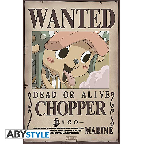 Abystyle ONE PIECE - Póster de Wanted Chopper New (52 x 38)