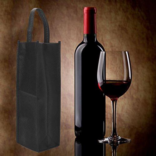QIANGU Bolsillo para Vino, 1 Pieza de Tela no Tejida, Bolsas para Botellas de Vino Tinto, Regalo, Bodas, Fiestas, Lavables