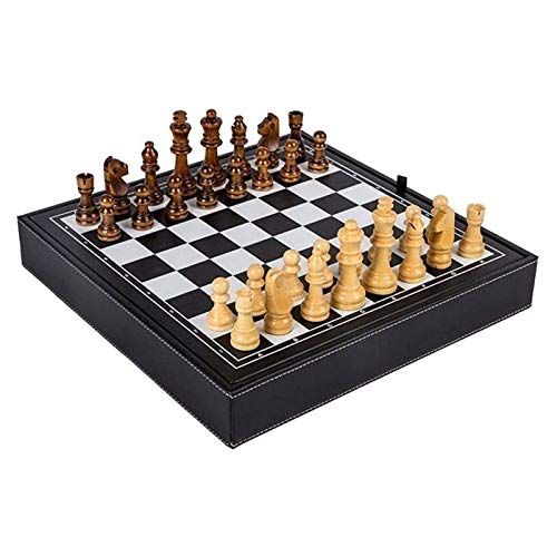 JXINGY Chess Set Travel Games Adults Kids Chess Board Queen-Size Chess Set Solid Wood for Children Adult Beginner Competition Spec