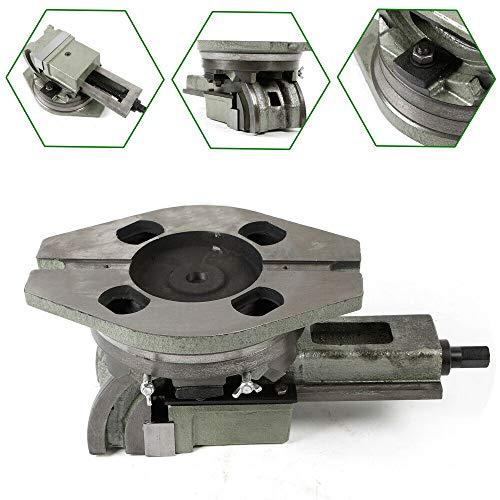 Maschinenschraubstock Schraubstock 125mm für Bohrmaschine 90/360 Grad Schwenkbar Stahl