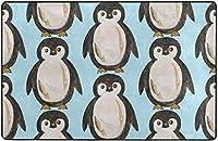 かわいいペンギンスーパーソフトインドアモダンエリアラグふわふわラグダイニングルームホームベッドルームカーペットフロアマットベビーキッズ犬猫60x39インチ-60x39インチ