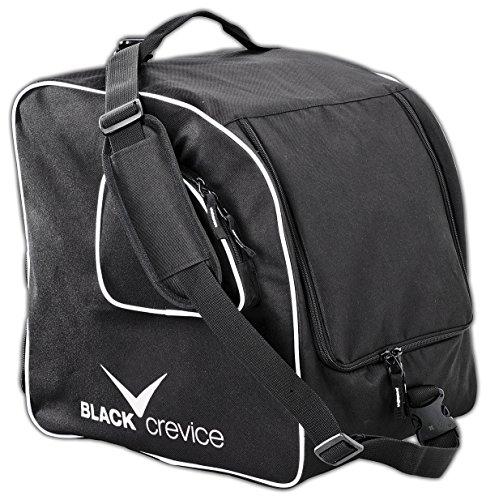 Black Crevice Bolsa de Deporte Skischuh- and Skihelm Tasche Negro