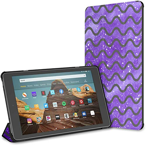Case For Chevron Galaxy Waves Fire Hd 10 Tablet (9th/7th Generation, 2019/2017 Release) KindleHd10Case CasesKindleFire10 Auto Wake/sleep For 10.1 Inch Tablet
