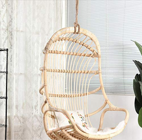 Gtbanv Nordic net red ins hanging basket Bali bed and breakfast rattan hanging chair home balcony garden indoor real rattan swing chair 76 * 118 1